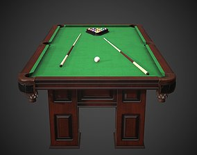 3D asset VR / AR ready Pool Table Britton Heritage