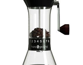 Coffee Grinder 3D model rigged