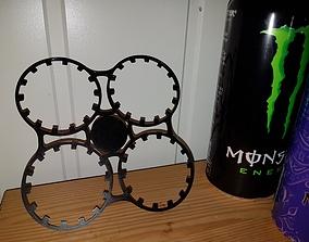 Reusable 4 can holder 3D printable model