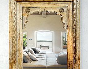 3D model Antique Raja Window Mirror