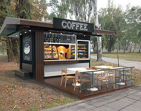 Coffee pavilion 3D model