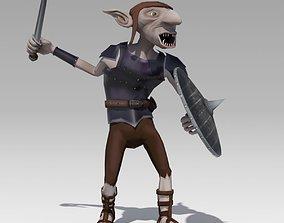 3D asset Goblin Animated