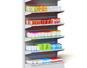 Market Shelf 3D Model - Medicine