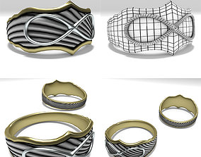 3D asset VR / AR ready Infinity Ring