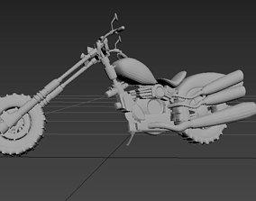 motorcycle locomotive automobile Harley 3D print model 1