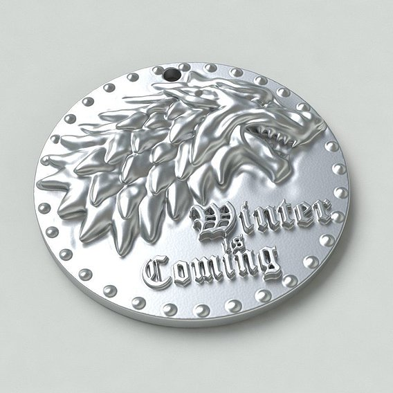 Game of thrones- Winter is coming Medallion