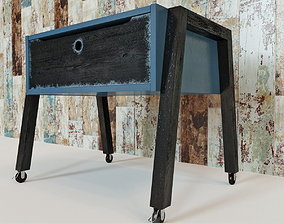 Table with a raised worktop VOX 3D model