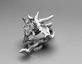 Crawling Demonic Screamer wih tentacles 3D printable model