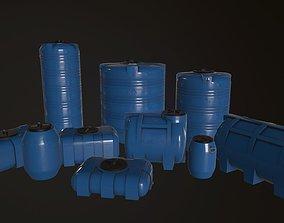 3D model Water Barrels Pack