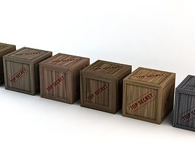 3D asset Top Secret Wooden Crates Pack