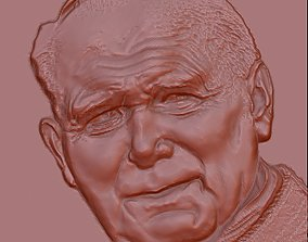paolo 2 pope john paul 3D model relief