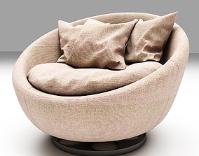 3D model Brown Soft Chair
