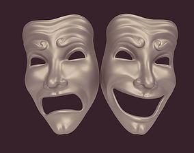 carnival 3D model Theater Mask
