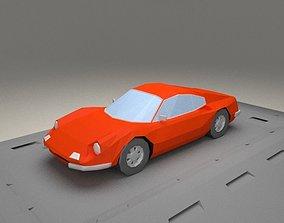 Ferrari Dino 206 GT from 1968 3D model