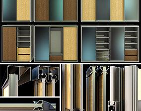 3D model Cupboard Wardrobe folding doors