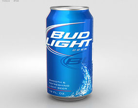 Budlight Beer Can 330 ml 3D model