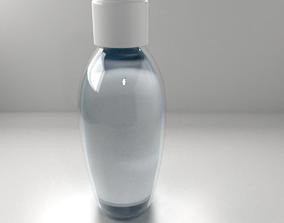 3D Hand Sanitizer Bottle with Liquid