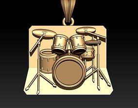 3D printable model drum pendant