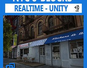 3D model low-poly NYC 8 Blocks Unity