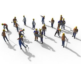 Low Poly Workers Packs 3D model