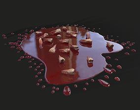 3D asset Teeth Bloody Pile Horror Prop