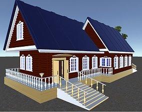 Russian Wooden House In Siberian Village - 2 for 3D model