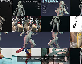 3D Super Heroine FanArt Set 1 by Takai