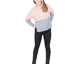 3D model No382 - Female Standing