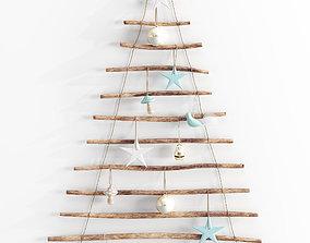 3D model Adairs Hanging Branch Christmas Tree