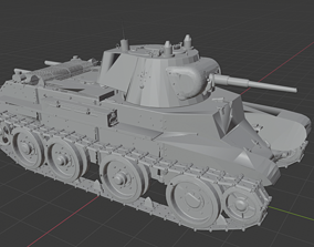 BT 7 Russian Tanks 3D print model