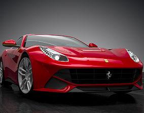 Ferrari F12 Berlinetta 3D animated
