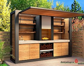 game-ready kitchen outdoor 3D model