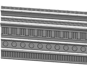 6 classical friezes for plaster and wood 3D print model
