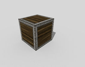 3D model low poly metal crate