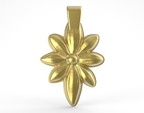 3D print model Flower pendant 2