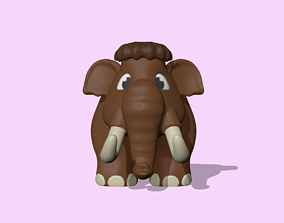 3D print model A cute Mammoth to decorate and play