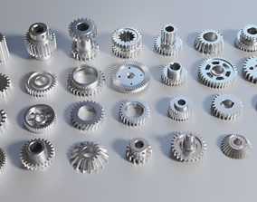 3D model Collection of gears