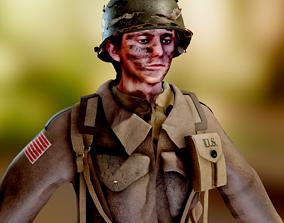 3D asset World War 2 US Paratrooper