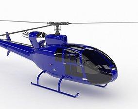 Helicopter SA342 Gazelle 3D asset