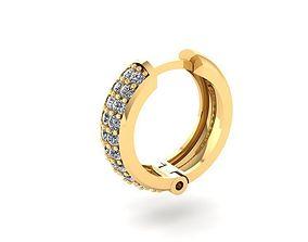 1453 Diamond earrings 3D print model