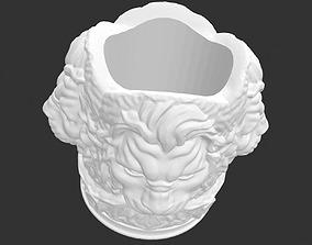 a lion head figured pot model