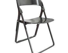 Black Folding Chair Casamania 3D