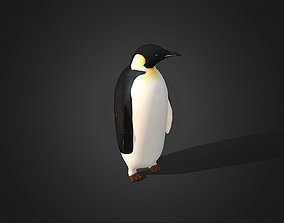 3D model Low Poly Emperor Penguin - Idle Animated