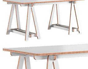 Trestle Table Medium 3D model