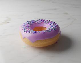 Stylized Donut PBR 3D model