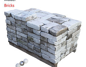 3D asset realtime Ultra realistic Bricks Scan