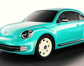 3D Volkswagen Beetle automobile