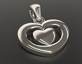 3D print model Heart shape pendant