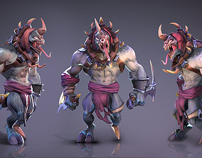 Sarbor - stylized lowpoly game ready character 3D asset