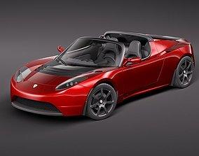 electrical Tesla Roadster 2010 3D model
